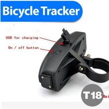 LED Taillingt bike gps trackers 2200mAh Big Battery Strong Mini GPS GPRS GSM Realtime SMS Network Vehicle Tracker Bike