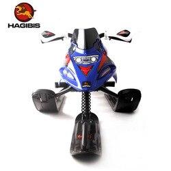 Traîneau à neige HAGIBIS avec frein sûr, motoneige avec système de laisse de remorquage rétractable automatique, Moto à neige