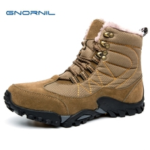 цены GNORNIL 2018 Warm Winter Work Boots For Men Non-Slip Casual Shoes Men Military Combat Boots Male Tactical Boots Man High Quality