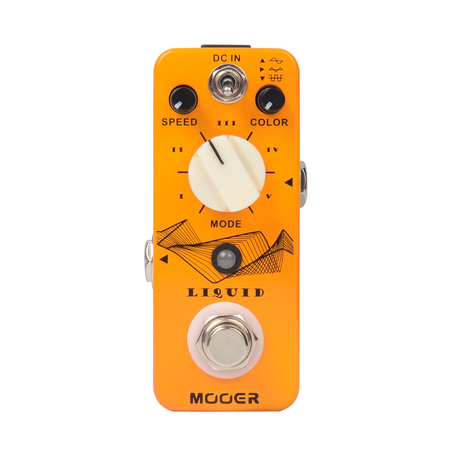 Mooer Liquid Digital Phaser Electric Guitar Effect Pedal Speed Color and Mix Controls Pocket  Size True Bypass Full Matel Shell mooer ninety orange phaser guitar effect pedal micro analog effects true bypass with free connector and footswitch topper