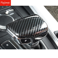 Car Styling Gear Shift Handle Protection Stickers Carbon Fiber ABS Covers For Audi A5 A4 B9 Q7 A7 Auto Accessories