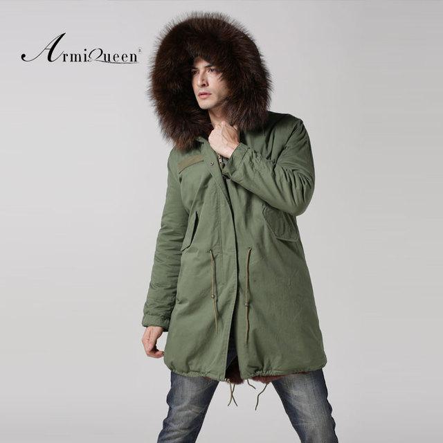 Long style men parka in men's parkas new arrival Mr fur coat free shipping