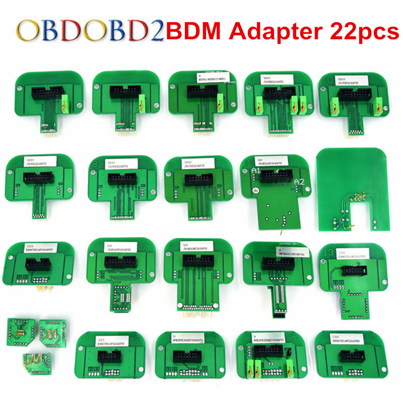 все цены на Full Kits BDM 22pcs Adapters Frame Fit For Ktag K-tag KESS V2 Galletto 4 FGTECH V54 BDM100 CMD100 Full Set Plastic BDM Frame