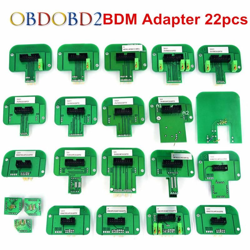 Full Kits BDM 22pcs Adapters Frame Fit For Ktag K-tag KESS V2 Galletto 4 FGTECH V54 BDM100 CMD100 Full Set Plastic BDM Frame