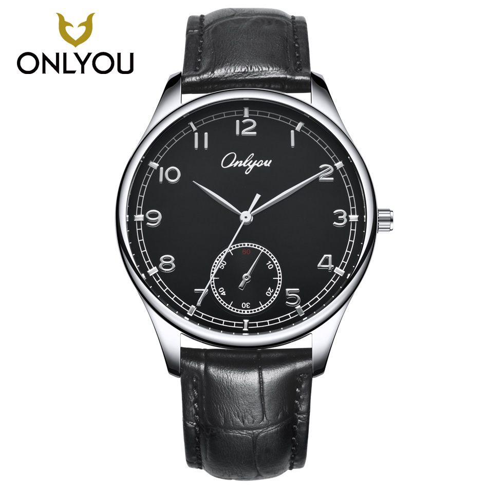 ONLYOU Fashion Men Quartz Watches Female Casual Leather Strap Watch High quality Women Dress Black Brown relogio feminino onlyou brand luxury fashion watches women men quartz watch high quality stainless steel wristwatches ladies dress watch 8892