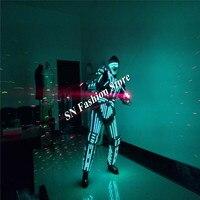 QL03 robot stroje taneczne świecenia LED światło kolorowe mężczyzna garnitur ubrania dj party stage światła laserowego etap balowej wydajność
