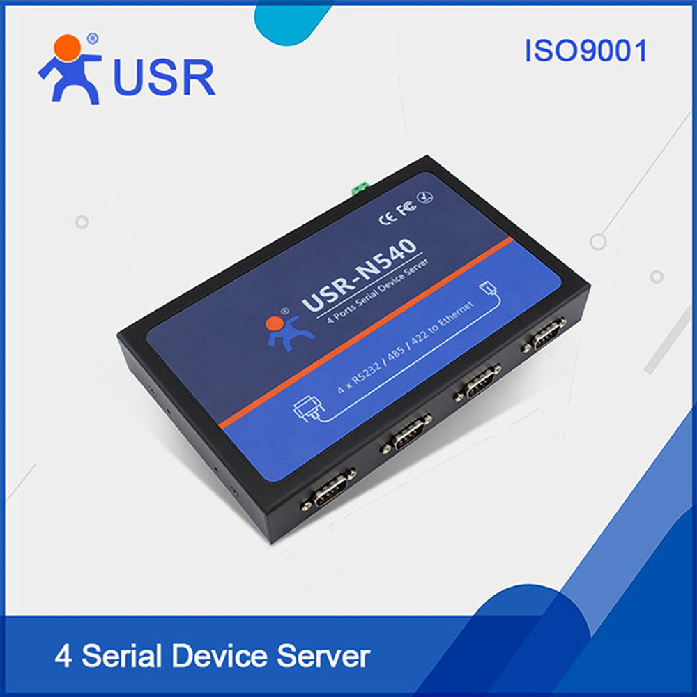 4 Serial Port RS232 Servers to Ethernet Converters RS485 to RJ45 RS422 to TCP IP Module Controller Built-in Webpage USR-N540Q038 usr wifi232 d2b direct factory 3 3v power serial uart ttl port to ethernet wifi wireless module converter with built in webpage