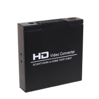 HDMI TO HDMI SCART+HD Video Konverter AV Adapter Scart HDMI 720P/1080p Converter Audio Box For STB HDTV DVD EU Plug Convertor
