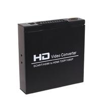 HDMI TO HDMI SCART+HD Video Konverter AV Adapter Scart HDMI 720P/1080p Converter Audio Box For STB HDTV DVD EU Plug Convertor