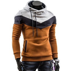 Fashion Autumn Hoodies Men Sweatshirt Male Stitching Hooded Hip Hop Long Sleeve Sweatshirt Men Silm Hoodies Outwear 3