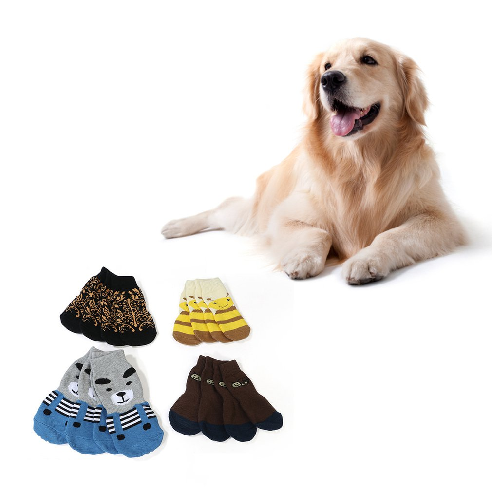 New Extra Large Pet Socks Alaskan Pine Lion Golden Hair Samo Socks Big Dog Foot Cover Non-slip Warm