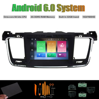 Android 6 0 Octa Core CAR DVD PLAYER For PEUGEOT 508 Radio RDS WIFI 2G RAM
