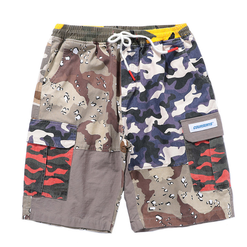 NEW Camo Color Skateboard Cargo Shorts Men 2018 Summer Hip Hop Casual Cotton Camouflage Short Pants Streetwear Sweatpants Shorts