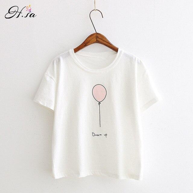 Tee Manga Camiseta 2017 Rosa Mujeres Blanca De Corta Verano Algodón Camisetas Harajuku Cortas WA4xan74q
