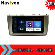 Navivox Android 8.1 Car Stereo GPS DVD Player For Toyota Camry 2008 2009 2010 2011 2Din GPS Navigation Car Radio Tapte Recorder eunavi 8 inch 2 din android 7 1 car dvd player gps for toyota corolla 2007 2008 2009 2010 2011 1024 600 car stereo radio