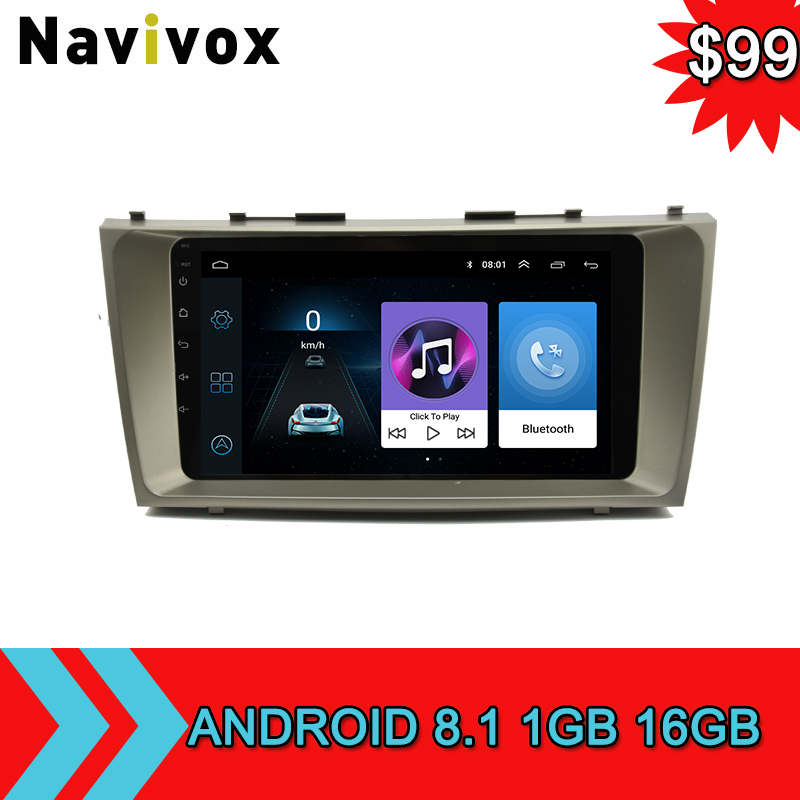 Navivox Android 8.1 Car Stereo GPS DVD Player For Toyota Camry 2008 2009 2010 2011 2Din GPS Navigation Car Radio Tapte Recorder