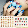 24pcs/lot ColorfulGilded Pattern 3d Beauty Sticker for Nails Decal Decorations Manicure Tips Beauty Nail Art Sticker