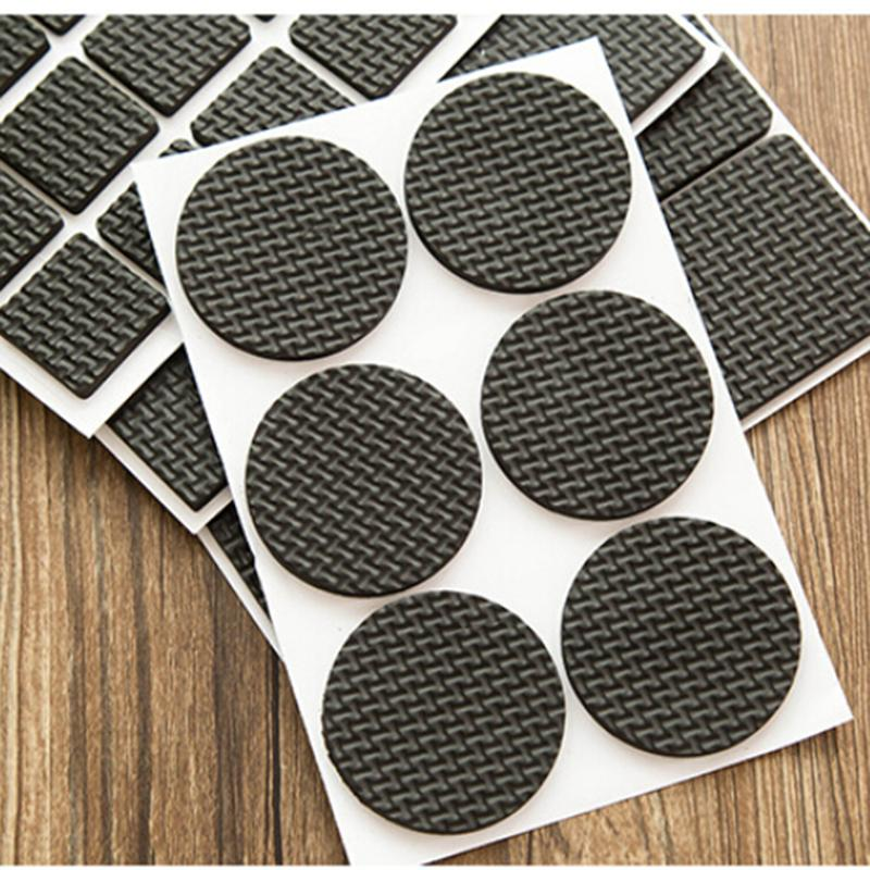 Round Multifunction Black Self Adhesive Furniture Leg Table Sofa Feet Floor Non  Slip Mat Sticky Pad Protector 1Setu003d48pcs In Furniture Accessories From ...