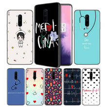 Nurse Medical Medicine Health HeartSoft Black Silicone Case Cover for OnePlus 6 6T 7 Pro 5G Ultra-thin TPU Phone Back Protective