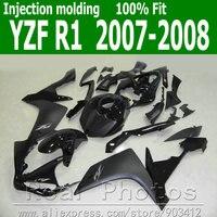 100% Injection molding bodywork set for YAMAHA R1 fairing kit 07 08 matte black fairings set YZF R1 2007 2008 NB40