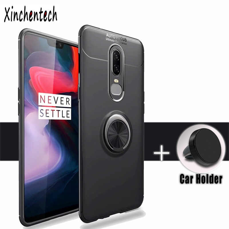 4768a4181c0 For Oneplus 6T Case Silicone Soft TPU Back Cover Accessories With Magnetic  Holder Bumper Coque Case