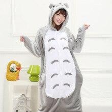 2016 Anime Cosplay ropa de Dormir de Franela Totoro Regino Tejer Niñas Pijamas de Patas Adultos Carnaval de Disfraces de Halloween para Las Mujeres