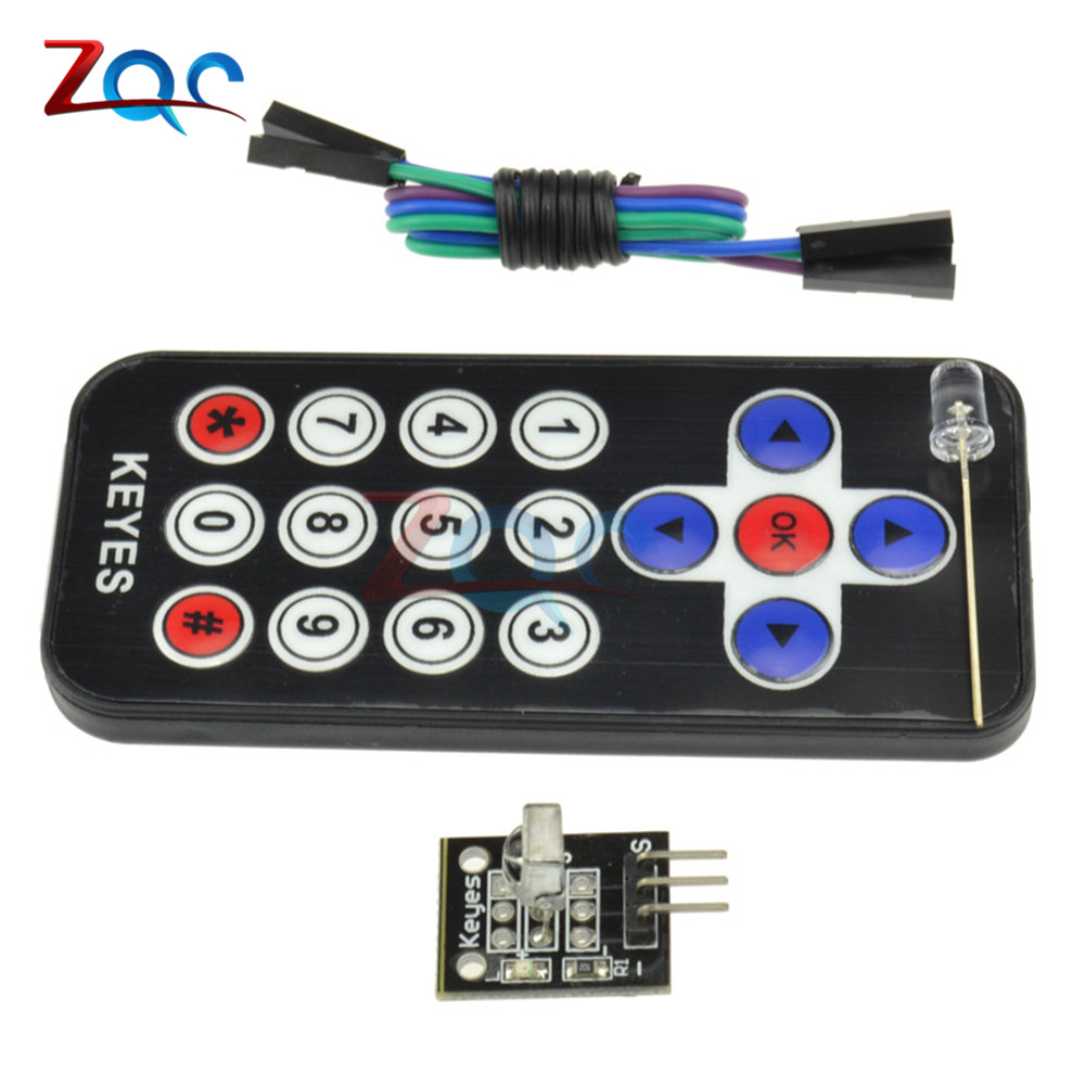 HX1838 IR Infrared Remote Control Module Wireless Receiver Module DIY Kit For Arduino FOR Raspberry Pi 5v 2 channel ir relay shield expansion board module for arduino with infrared remote controller