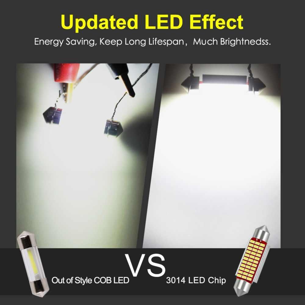1 шт. C5W светодиодный светильник для салона автомобиля Canbus Festoon 31 мм 36 мм 39 мм 42 мм светодиодный светильник 6000K белый купол лампа для чтения автомобильная лампа 12 В