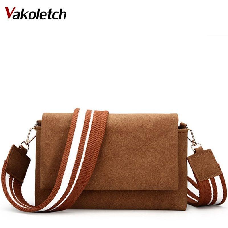 Fashion Women Scrub Messenger Bag High Quality Leather Womens Flap Bag Wide Strap Female Shoulder Bag Lady Crossbody Bag KL295