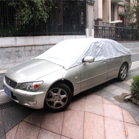 Half Car Cover UV Protection Waterproof Outdoor Indoor Shield Universal Car Covers Dust Proof