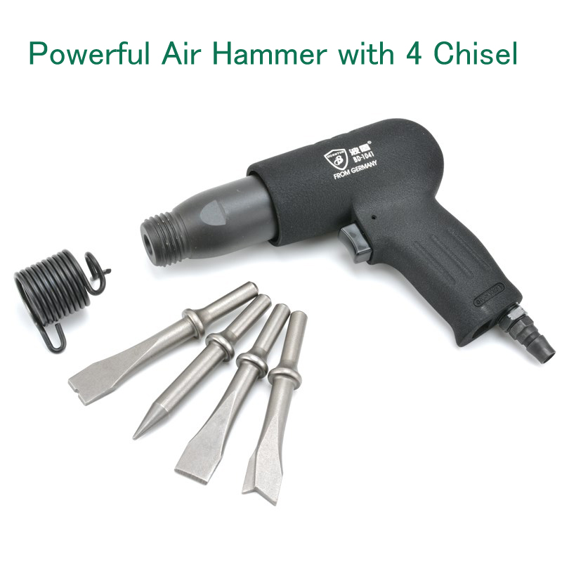 Powerful Air Hammer BD-1041 with 4 Chisel Pneumatic Chisel Pneumatic Riveter Hammer Guns tc450 1 4 6 4mm air riveter pneumatic riveter 3 2mm 4 0mm 4 8mm 6 4mm