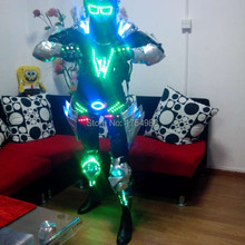 party supply led robot costume LED Robot suits Luminous armour Stage Dance Wear Novelty