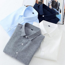 England Style Men Long Sleeve Turn-down Collar Shirts Chemisa,Oxford Cotton Slim Fit Candy Color Casual Shirts Camisas Plus Size girls plaid blouse 2019 spring autumn turn down collar teenager shirts cotton shirts casual clothes child kids long sleeve 4 13t