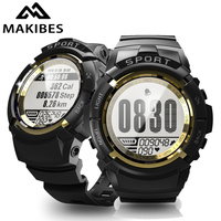 18 Months Warranty MAKIBES MINI G01 Sport Smart watch Men Alarm Compass Dynamic heart rate IP68 waterproof 30 days Standby
