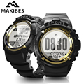18 месяцев гарантии MAKIBES MINI G01 спортивные Смарт-часы для мужчин Будильник компас динамический Пульс IP68 Водонепроницаемый 30 дней в режиме ожид...