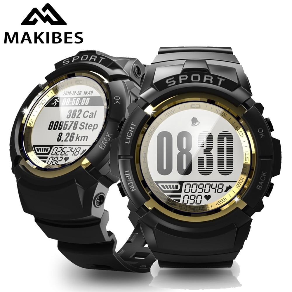 18 Months Warranty MAKIBES MINI G01 Sport Smart watch Men Alarm Compass Dynamic heart rate IP68 waterproof 30 days Standby|Smart Watches| |  - title=