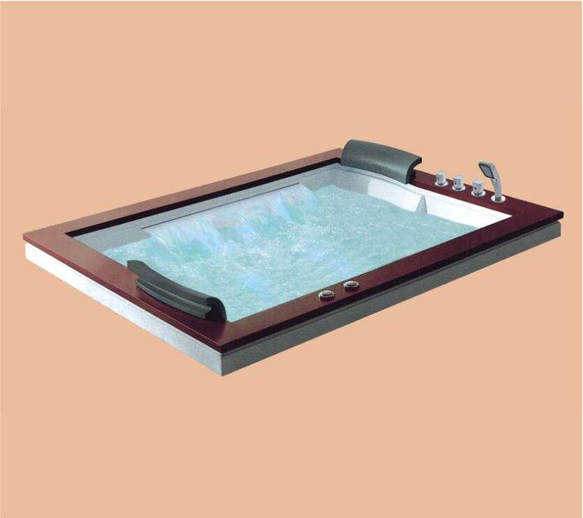 1800mm Drop-in Fiberglass Built-in whirlpool Bathtub Acrylic Hydromassage Embedded Surfing Tub NS6026