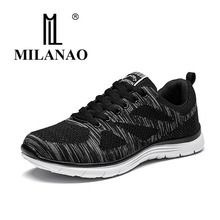 2016 MILANAO New Summer Sports Flyknit Racer Running Shoes For Men Women Breathable Men sAthletic Sneakers