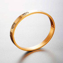 Brand Muslim Jewelry Allah Round Bangle Gold Color 316L Stainless Steel Women/Men Religious Islamic Bangle Bracelet H477
