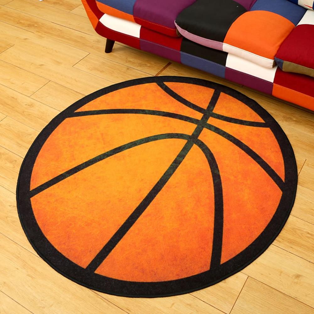 Doux Nylon Tissu Noir Bande Orange de Basket Ball Géométrie Motif ...