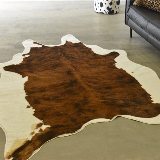 MUZZI vache léopard tapis Imitation peaux d'animaux naturel forme tapis grande taille salon décoration antidérapant tapis 1500x2000mm-in Tapis from Maison & Animalerie    1