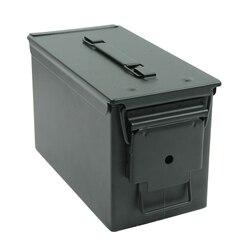 50 Cal caja de municiones de acero caja de munición militar y el ejército táctico sólido soporte a prueba de agua caja de largo plazo bala objetos de valor de almacenamiento