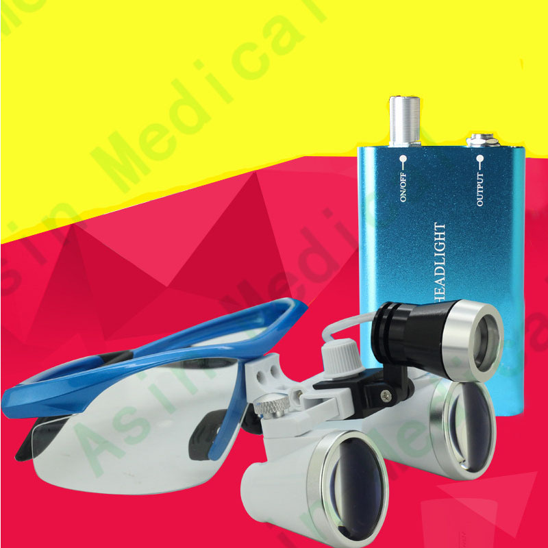 2016 Dental Oral Care Dental equipment 3.5 times high-definition zoom glasses head light oral LIGHT Asin