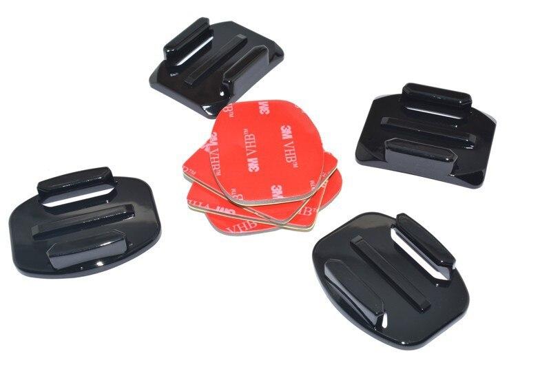 2x Plat et 2x Courbes Monte avec 3 M Adhésif Pads pour SOOCOO S70 Camera Action Accessoires
