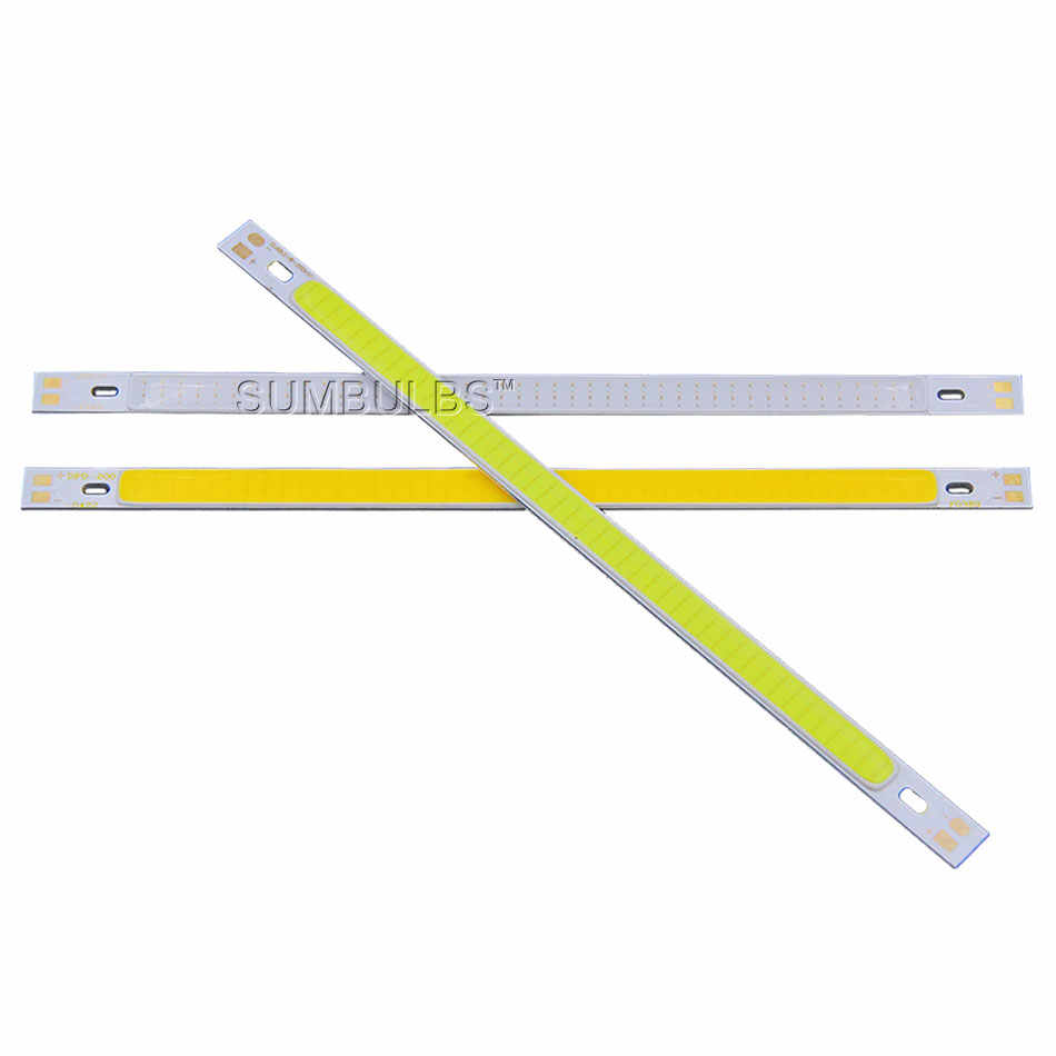 Sumbulbs 200x10mm DC 12V 10W LED COB Strip Bar Lights Bulb Warm Pure White Green Red Blue Yellow 1000LM LED Car Lamp Source