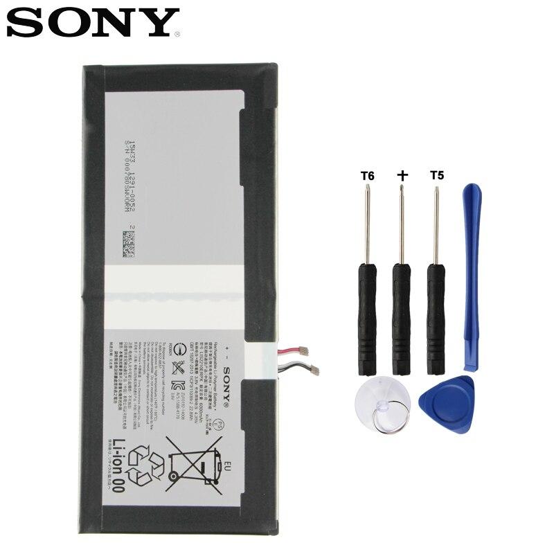 Batterie d'origine SONY pour SONY Xperia Z4 tablette Ultra SGP712 SGP771 LIS2210ERPX LIS2210ERPC 6000 mAh batterie de remplacement de tablette