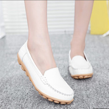New fashion 2016 women flats comfortable skid leather women casuals shoes summer style flat shoes loafers   DT2044