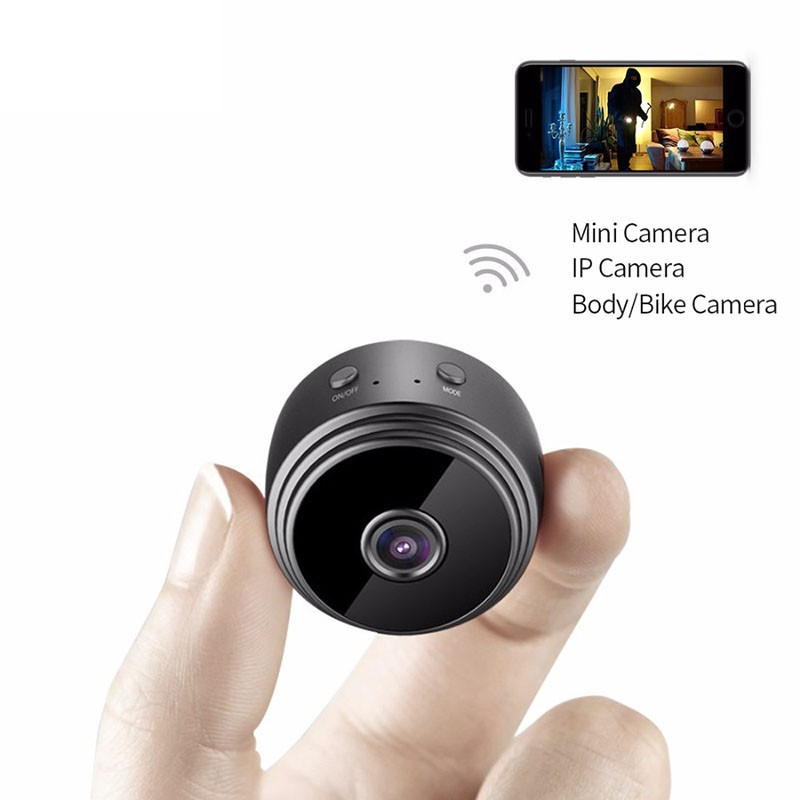 Micro WIFI Mini Camera HD 720P With Smartphone App And Night Vision IP Home Security Video Cam Bike Body DV DVR Magnetic mini dv md80 dvr video camera 720p hd dvr sport outdoors with an audio support and clip