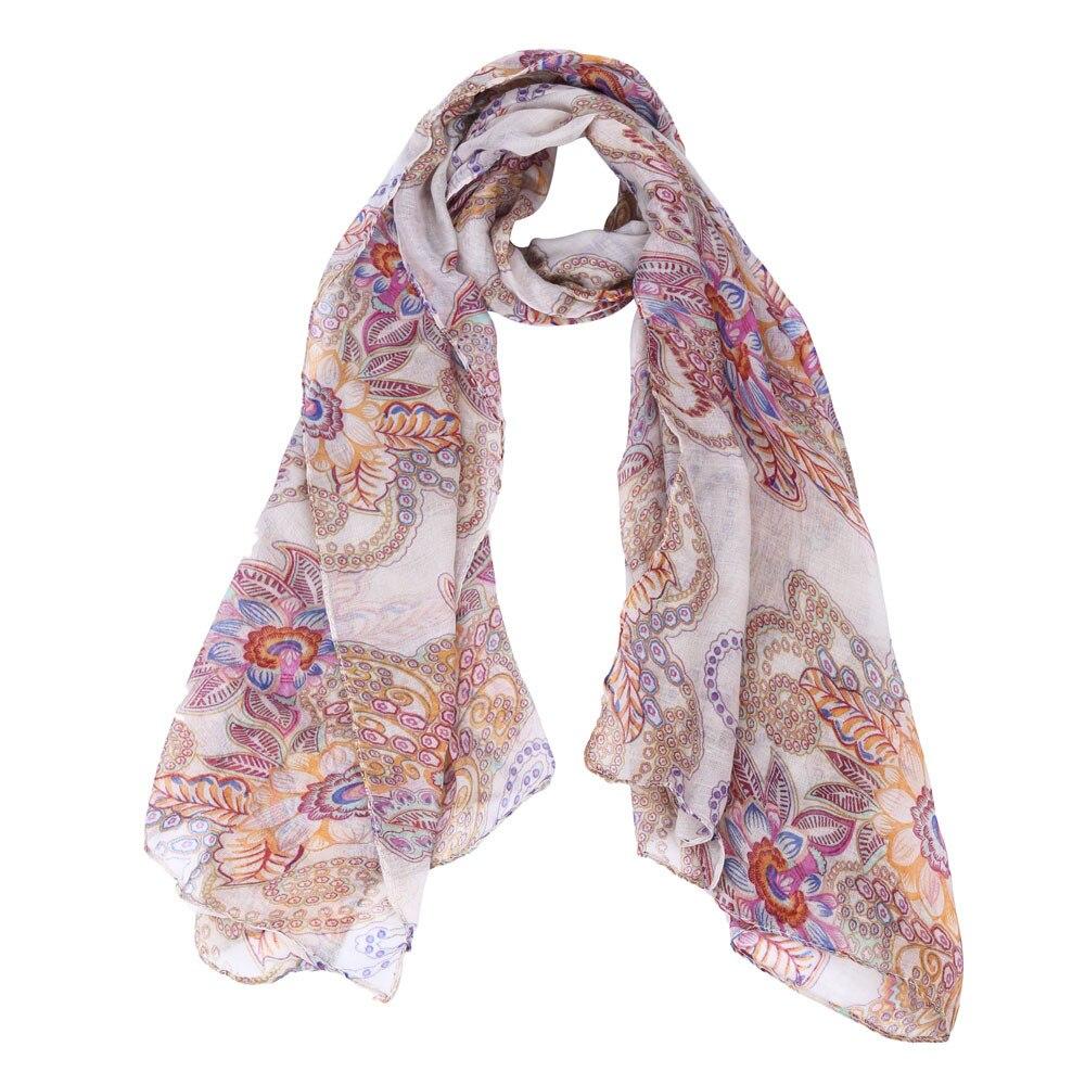 Vintage Warm Silk   Scarves   Ladies   Scarf   Nation Retro Printed Long Warm   Scarves   Shawl Female Fashion Chiffon   Scarf     Wraps   #010