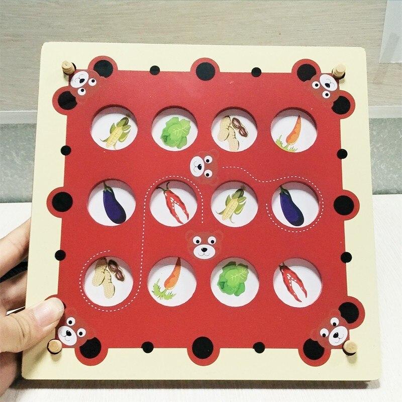 bērnu koka atmiņas spēļu rotaļlietas / atrast atbilstošos pārus / Kids Bērnu dzīvnieku bloku koka izglītojošas rotaļlietas kastes iepakošanai